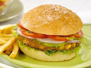 Paneer and Corn Burger by Tarla Dalal