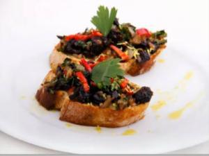 Weihnachtsmenü - Bruschetta, Tofufilet mit Kräuterkruste, Bratapfel