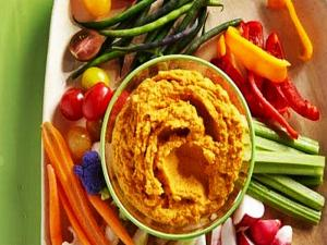 Roasted Carrot Hummus - Healthy School Lunch