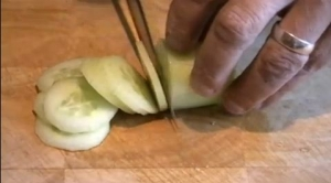 How to Slice a Cucumber
