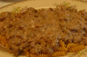Cheap Ground Beef Stroganoff