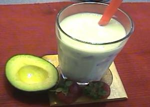 Easy Avocado Ice Cream Smoothies