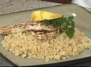 Grilled Tilapia with Browned Butter and Couscous