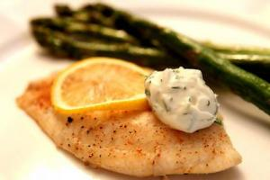 Poached Codfish Steaks