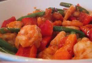 Spicy Prawns in Schezwan Style