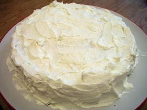 Rum Frosted Sponge Cake