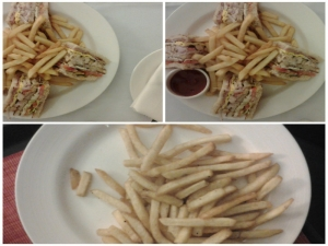 Chicken Club Sandwiches with Potato Fries
