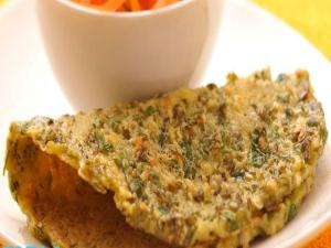 Sprouted Moong and Methi Chila by Tarla Dalal