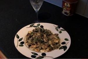 Courgette and Halloumi with Quinoa