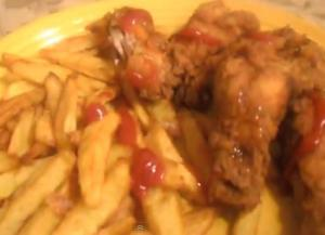 Easy Homemade Chicken Wings and Potato Fries