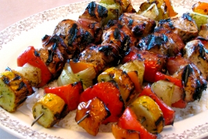 Monterey Mushrooms Rosemary Chicken Kabobs