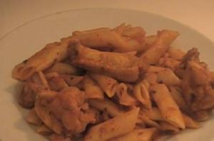 Penne and Chicken Wings