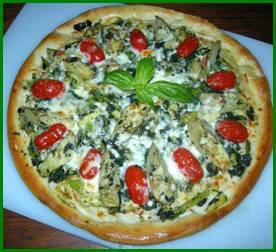 Cookin' Greens Pizza with NEW Artichoke Heart Quarters