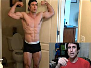 Muscle Transformation with Flexing