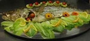 Baked Whole Striped Bass