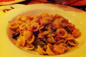 Orecchiette with Kale and Sun Dried Tomatoes