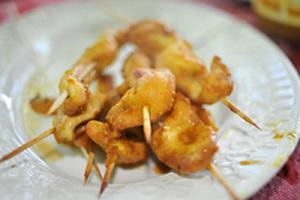 Asian Chicken Satay with Thai Peanut Sauce