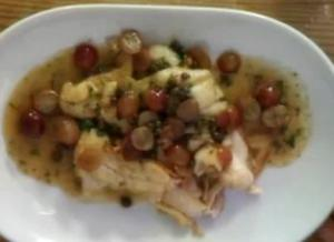 Flounder Piccata With Red Grapes And Capers
