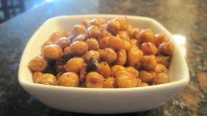 Sweet Spiced Roasted Chick Peas