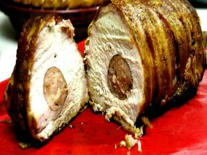 Sausage Stuffed Pork Roast