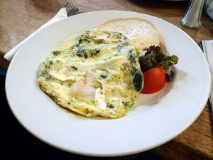 Spinach & Cheese Omelette