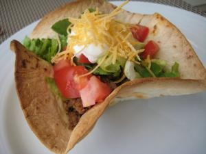 Mexican Salad in a Taco Bowl