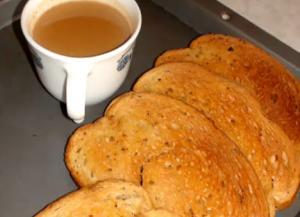 Tea Rusks (Bread Toast for Tea Time)