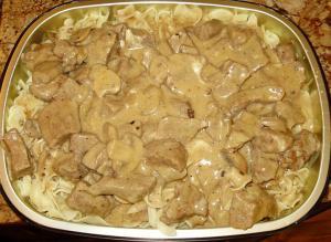 Microwaved Beef Stroganoff