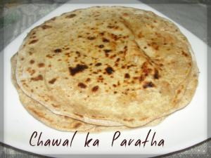 Chawal Ka Paratha