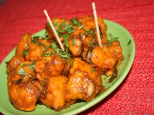 South Indian Style Gobhi Manchurian