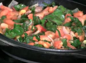 Healthy Vegan Spinach and Tomato Summer Stew