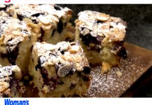 How To Make Blueberry & Almond Traybake