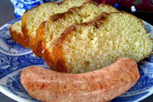 Egg Cake With Sausage