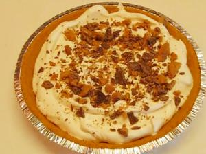 Homemade Caramel Dream Pie With Heath Bar