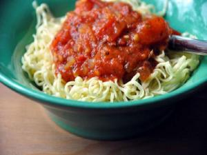 Pasta with Roasted Tomato and Red Chile Arrabiata