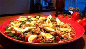 Dried Beef And Fresh Vegetable Salad