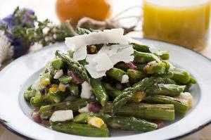 Grilled Asparagus & Egg Salad with Meyer Lemon Vinaigrette