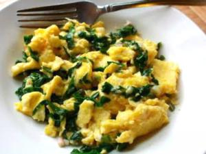 Ramp And Vegetable Scramble