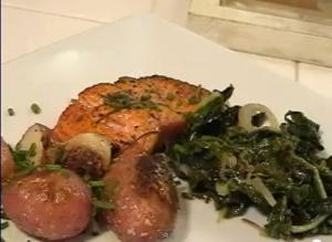 Copper River Salmon with Roasted Baby Potatoes