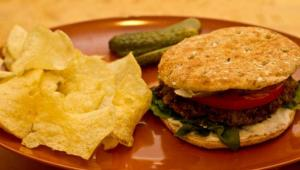 Lentil and Mushroom Veggie Burger