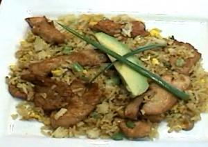 Curry Chicken And Egg Fried Rice