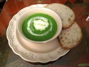 Minted Cream Of Pea Soup