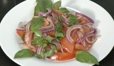 Tomato Onion Basil Salad