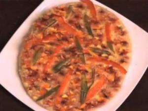 Beans and Pepper Pizza