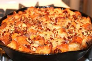 Fruit Filled Bread Pudding