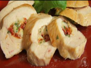 Stuffed Chicken Breast with Mozzarella, Sun Dried Tomatoes and Basil