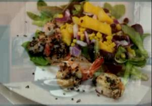 Spicy Shrimp With Mango Salsa