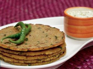 Rice and Soya Paratha (Protein Rich Recipe) by Tarla Dalal