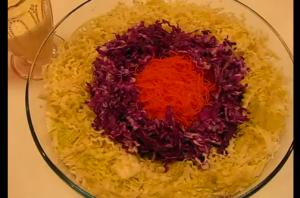 Crunchy Cabbage-Carrot Salad With Dressing
