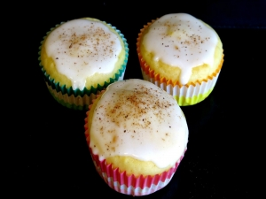 Eggnog Cupcake